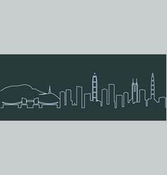 shenzhen single line skyline vector image