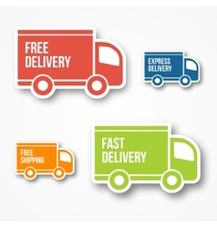 Shipment and free delivery vector