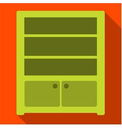 Sideboard flat icon vector