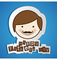 stickers of fathers day isolate on blue background vector image