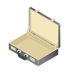suitcase Empty isolated isometric style blank case vector image