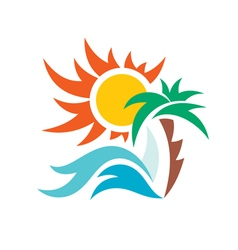 Summer travel vacation logo vector image