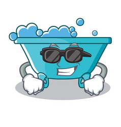 super cool bathtub character cartoon style vector image