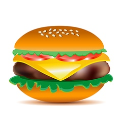 Tasty cheeseburger vector