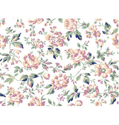 vintage style floral seamless pattern vector image