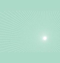White lines perspective on green pastels vector