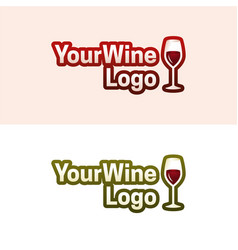 your wine logo vector image