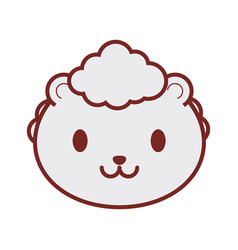 cute sheep face image vector image