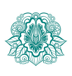 floral design element in doodle line style vector image vector image