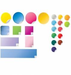 peeling stickers vector image vector image