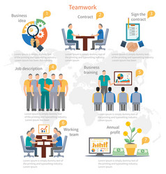 Teamwork Infographics Template vector image