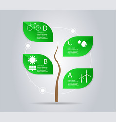 abstract tree green power infographic element vector image vector image