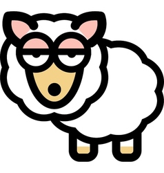 Cartoon sleepy sheep vector