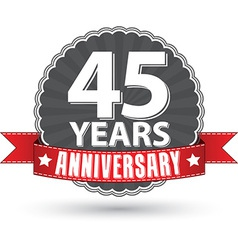 Celebrating 30 years anniversary retro label with vector image vector image