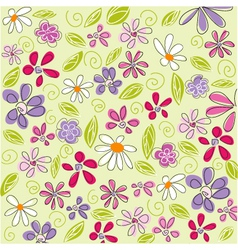 floral background easter vector image