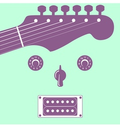 Funky guitar face vector image vector image