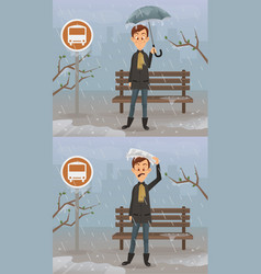 happy and sad man character vector image vector image