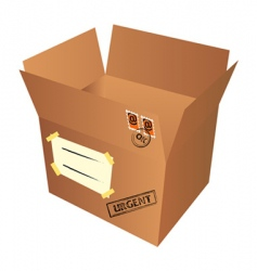 mail package vector image vector image