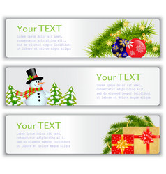 New Years visit card vector image