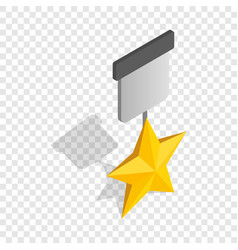 order with star isometric icon vector image
