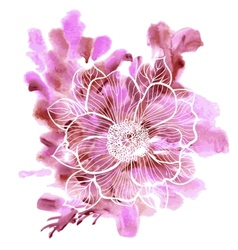 Peony flowers on a watercolor background vector image vector image