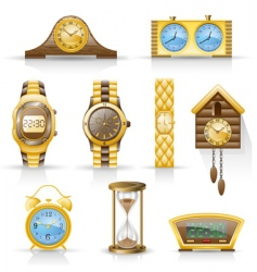 watches icon set vector image vector image