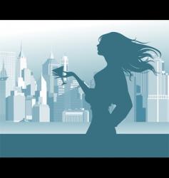 women in the street vector image vector image