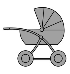 Buggy isolated object image vector