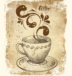 coffee cup card vector image