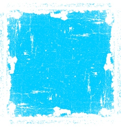 Cyan Textured Frame vector image