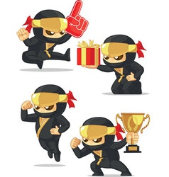 Ninja customizable mascot 17 vector