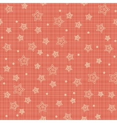 Seamless pattern with stylized stars vector image vector image