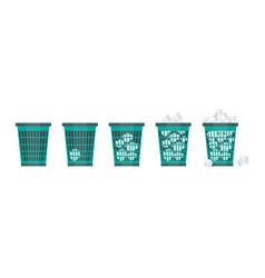cartoon office trash recycle bin for garbage vector image