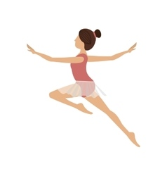 colorful dancer jump second arabesque vector image vector image