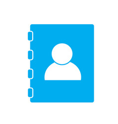 contacts book on white background contacts book vector image