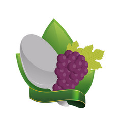 grape vegan food fresh diet vector image vector image