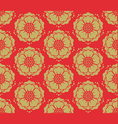 seamless korean pattern vector image