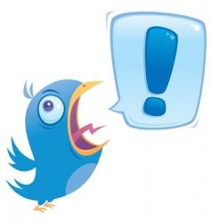 shouting blue bird vector image