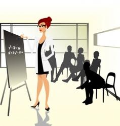 teacher illustration vector image vector image