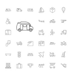 33 transportation icons vector image