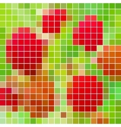 Abstract - geometric colored square grid vector