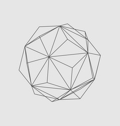 Abstract geometry shape vector