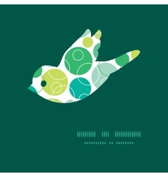 Abstract green circles bird silhouette vector