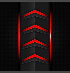Abstract red and black color gradient contrast vector