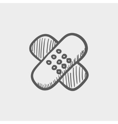 Adhesive bandages sketch icon vector image