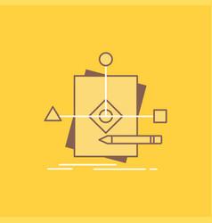 algorithm business foretelling pattern plan flat vector image