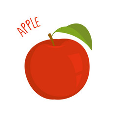 apple isolated vector image