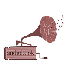 audiobook vector image