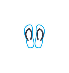 beach shoes thin line stroke icon beach vector image