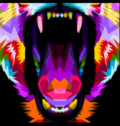 Beast mouth vector